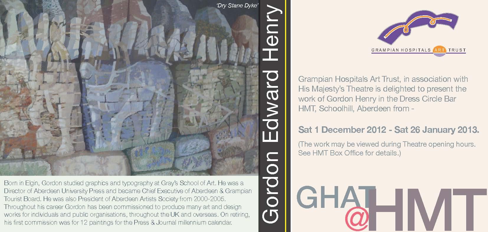 Gordon Edward Henry @ HMT