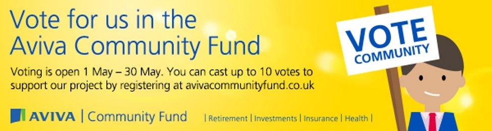 AVIVA Community Fund – £20,000 fundraising bid