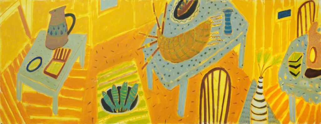 'Yellow Still Life No.3 with Bagpipes', oil on canvas  |  GHAT Collection