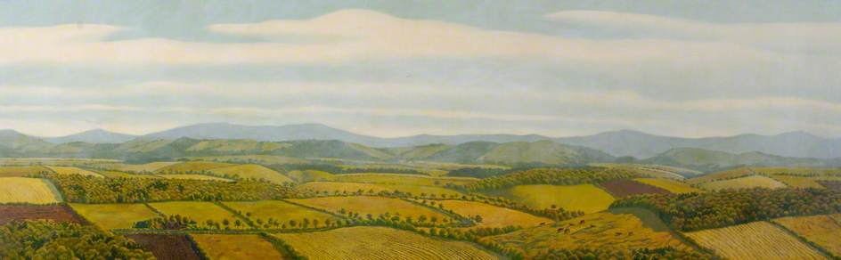 'Summer Landscape', oil and acrylic on canvas on board  |  GHAT Collection